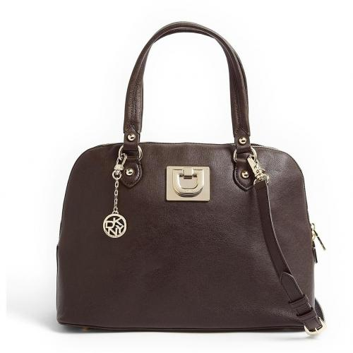 DKNY Dark Brown Heritage Vintage Leather Tote