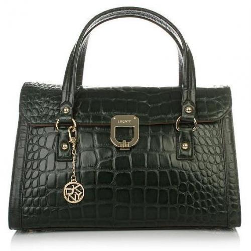 DKNY Gramercy Croco Leather Green