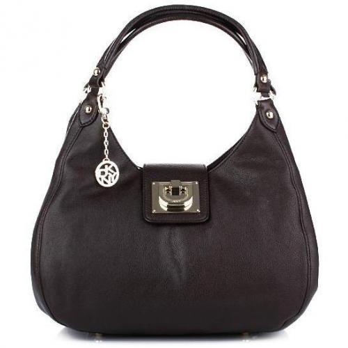 DKNY Heritage Vintage Leather Dark Brown Medium