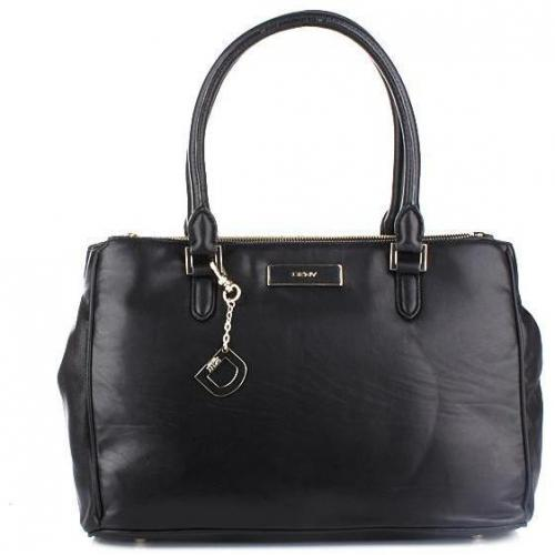 DKNY Lamb Nappa W/Zip Black