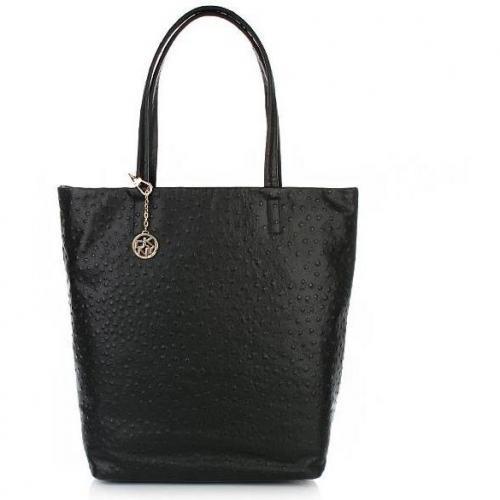 DKNY Ostrich Shopper Black