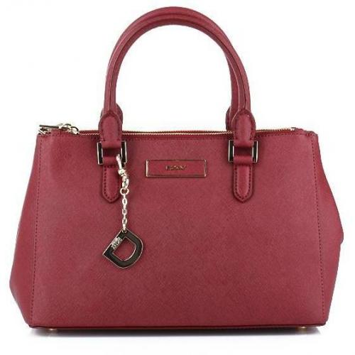 DKNY Saffiano Leather W/Zip Burgundy