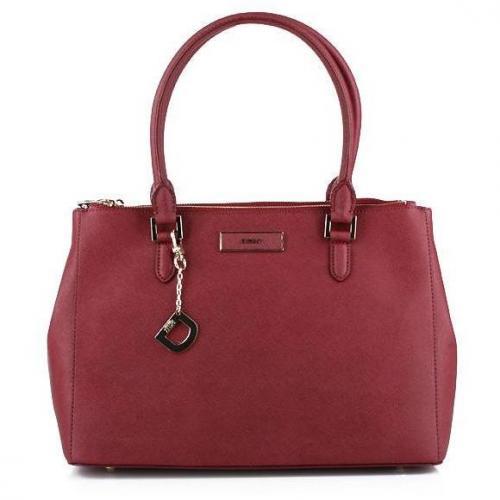 DKNY Saffiano Leather W/Zip Burgundy Medium