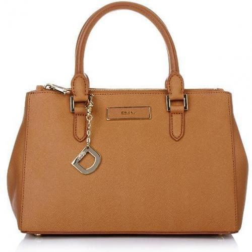 DKNY Saffiano Leather W/Zip Camel