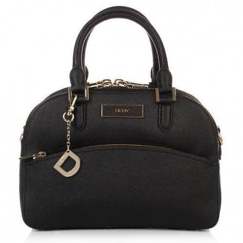 DKNY Saffiano Leather W/Zip Round Black