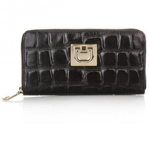 DKNY Wallet Croco Black