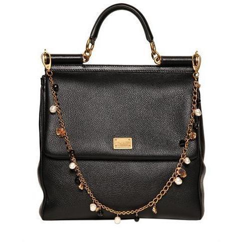 Dolce & Gabbana - Große Miss Sicily Textured Leder Tasche
