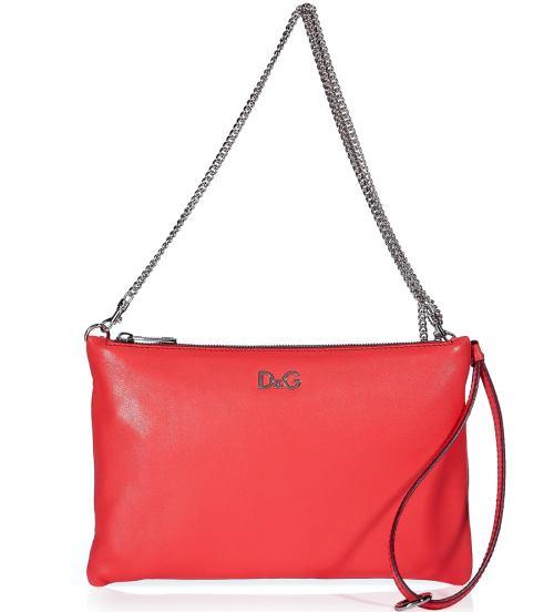 D&G Dolce & Gabbana Hot coral wristlet bag