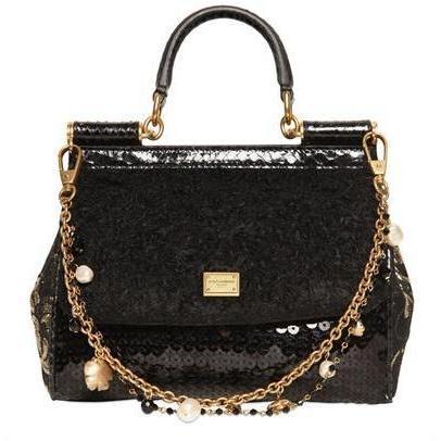 Dolce & Gabbana - Kleine Miss Sicily Woll Boucle Handtasche