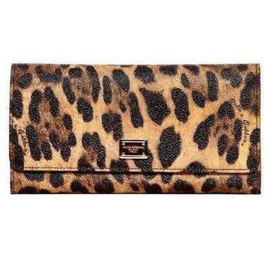 Dolce & Gabbana - Leopard Druck Pvc Brieftasche
