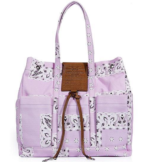 Dolce & Gabbana Lilac Printed Canvas Tasche