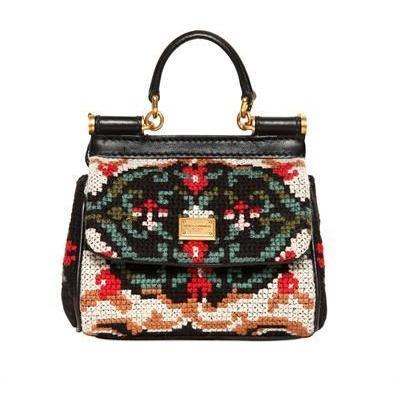 Dolce & Gabbana - Mini Miss Sicily Naht Umhängetasche