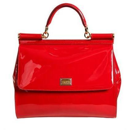 Dolce & Gabbana - Miss Sicily Polished Leder Handtasche