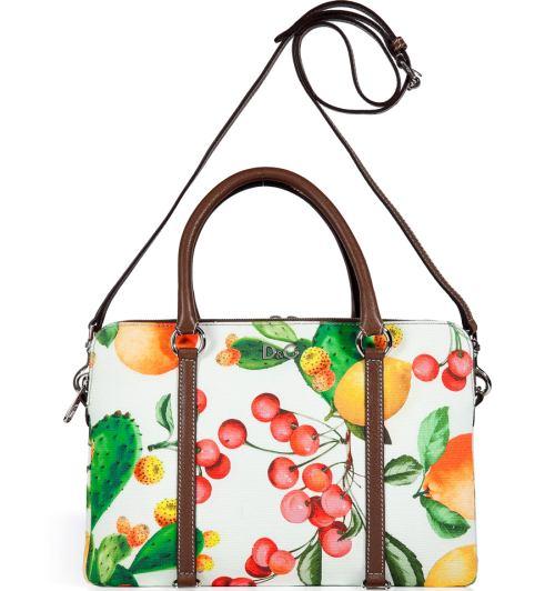 D&G Dolce & Gabbana Canvas Tasche Multicolor Printed