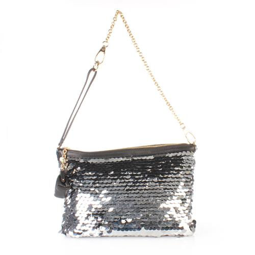 Dolce&Gabbana Metallic Paillette Clutch Silver