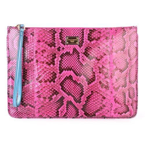 Dolce&Gabbana Pochette Python Pink