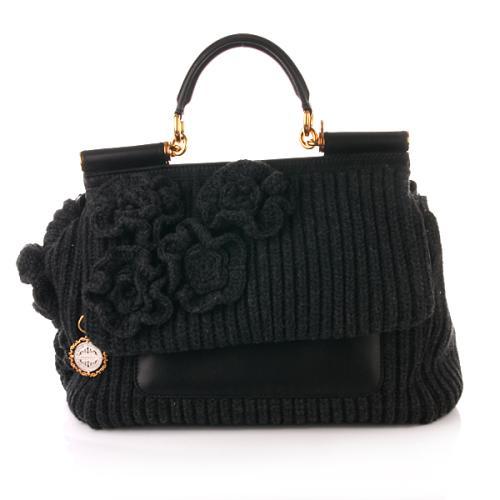 Dolce&Gabbana Miss Sicily Wool Grey/Black