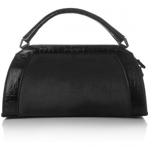 Donna Karan Hydroform Handbag Haircalf Anthrazit Small