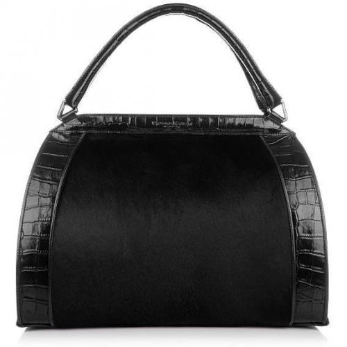 Donna Karan Hydroform Handbag Haircalf Black