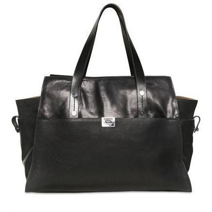 Dsquared - Große Toronto Leder & Wildleder Handtasche