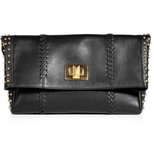 Emilio Pucci Black Studded Fold Over Clutch