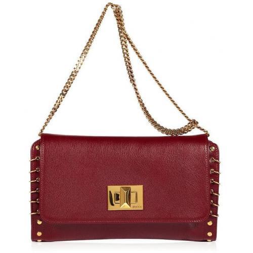 Emilio Pucci Burgundy/Gold Shoulder Bag