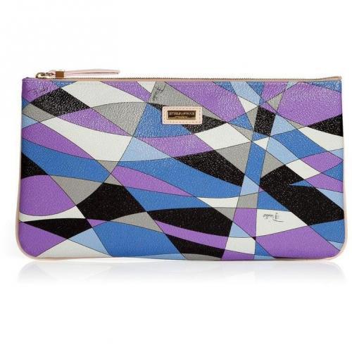 Emilio Pucci Lavender/Black Geometric Print Bag