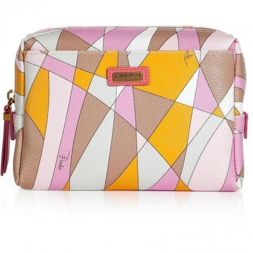 Emilio Pucci Mandarin/Pale Rose Cosmetic Bag