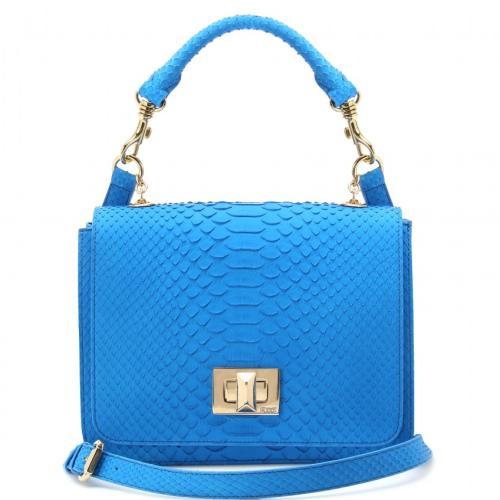 Emilio Pucci Python Marquise Tasche Blau