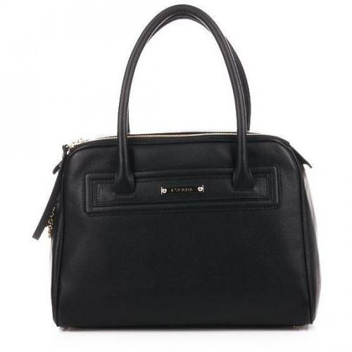 Escada Black Double Zipper Bag