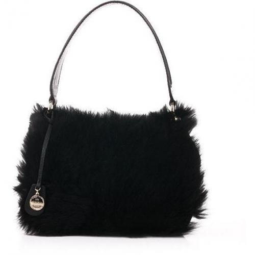 Escada Fur Hand Bag Black