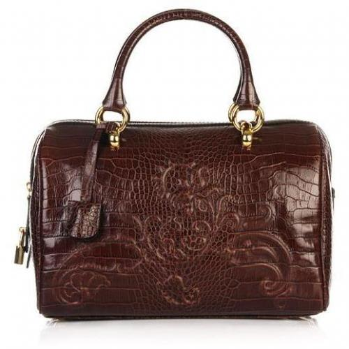 Etro Bauletto Bowling Floral Brown