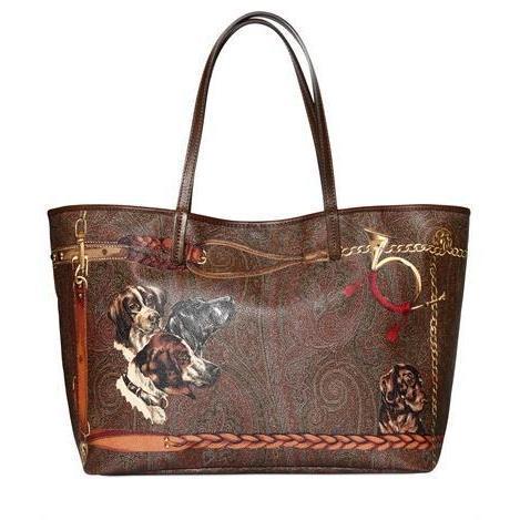 Etro - Medium Paisley Hunting Pvc Shopping Tasche