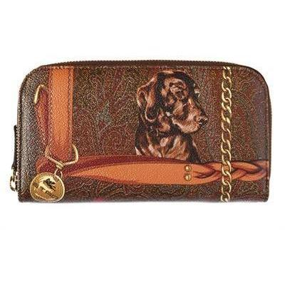 Etro - Paisley Hunting Pvc Zip Around Brieftasche