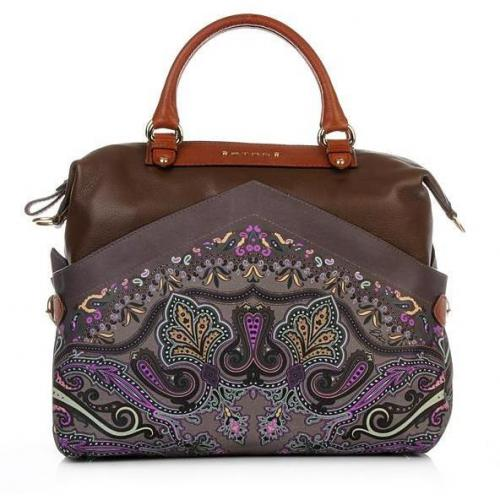 Etro Shopping C/Tracolla Brown/Grey