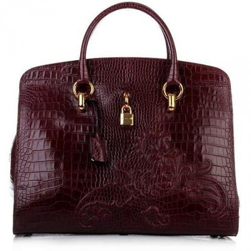 Etro Shopping Croco Bordeaux