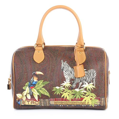 Etro Bauletto Jungle Print