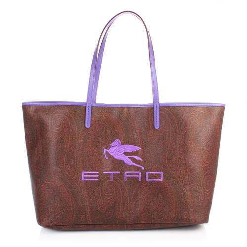 Etro Shopper Logo Violett