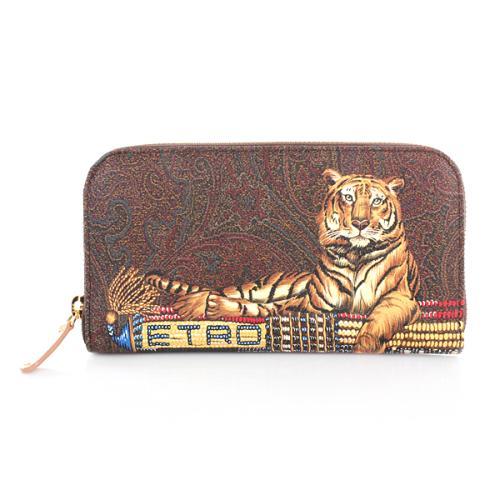 Etro Portemonnaie Portafoglio Tiger Print