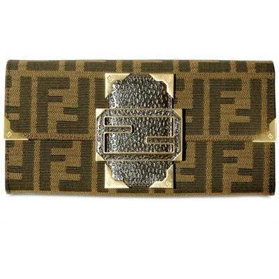 Fendi - Brieftasche Im Logo Jacquard