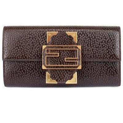Fendi - Brieftasche Kalbleder Im Relief