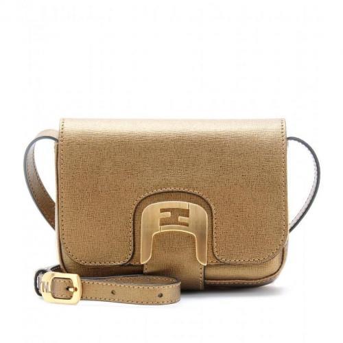 Fendi Chameleon Mini Messenger Bag Gold+Satin Gold