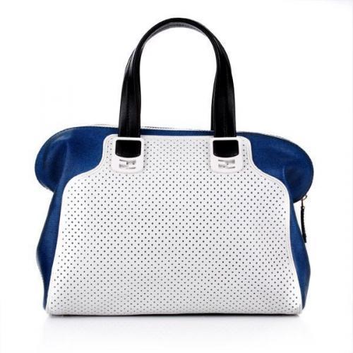 Fendi Duffle Bag Chameleon Vitello/Latte Blue