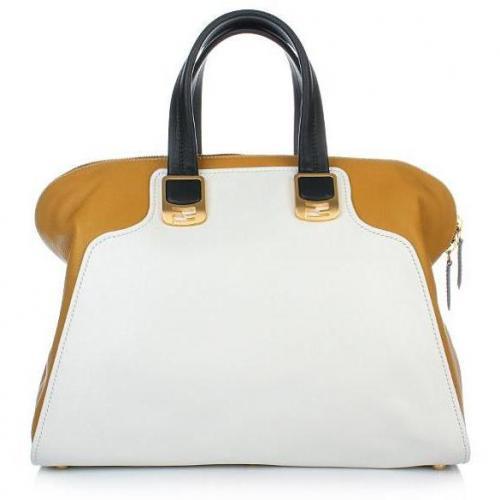 Fendi Duffle Bag Chameleon Vitello/MLC Yellow-White