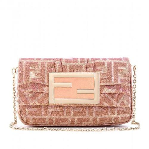 Fendi Mia Metallic-Clutch