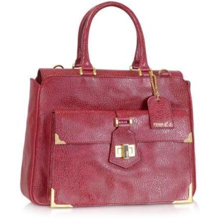 Fendi No.3 - Handtasche aus rotem Leder