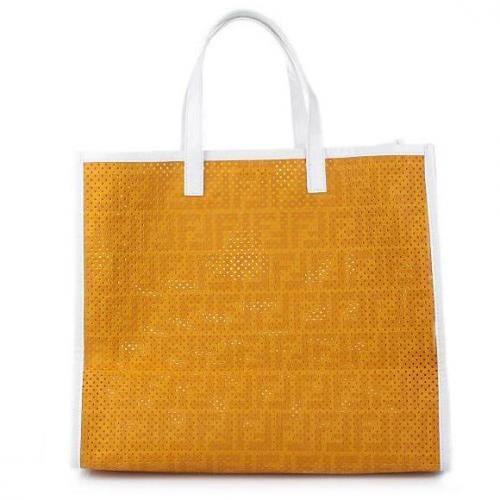 Fendi Shopping A Busta Zucca Ocra Bco Oro Yellow