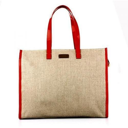 Fendi Shopping C/Lampo Canvas Red