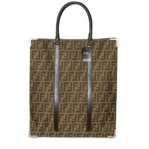 Fendi - Tote Handtasche Im Logo Jacquard