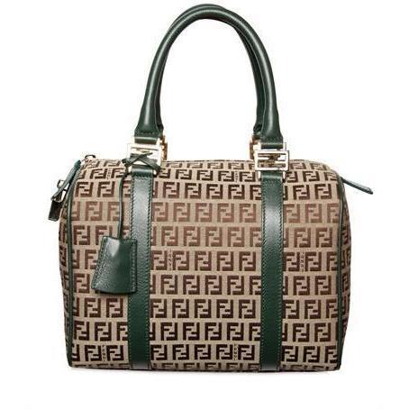 Fendi - Zuchino Jacquard Boston Handtasche